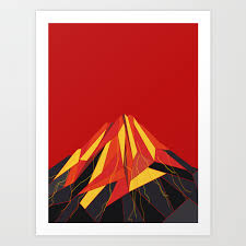 VOLCANO Art Print by absentisdesigns | Society6